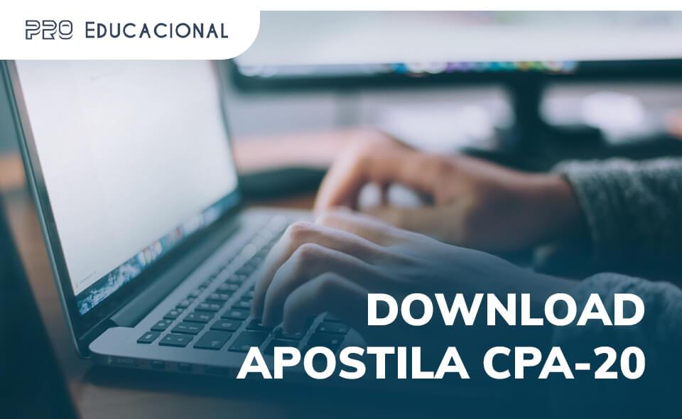 Download apostila CPA-20 PDF